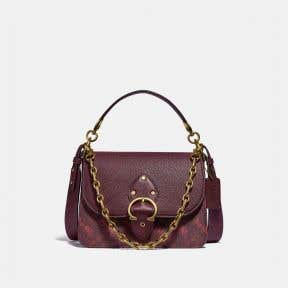 BEAT SHOULDER BAG WITH HORSE AND CARRIAGE PRINT