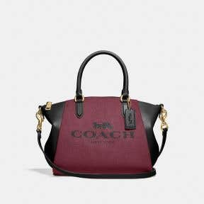 Elise Satchel With Horse And Carriage