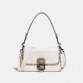 Soft Tabby Shoulder Bag With Snakeskin Detail
