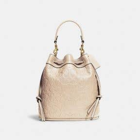 Field Bucket Bag In Signature Leather