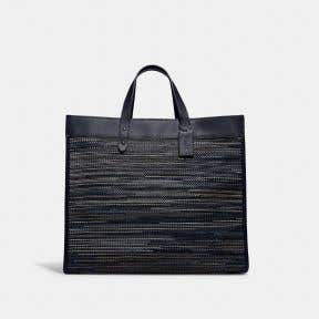 Field Tote 40 In Upwoven Leather