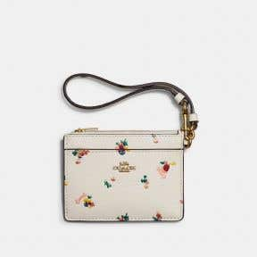 Card Case Wristlet With Floral Print